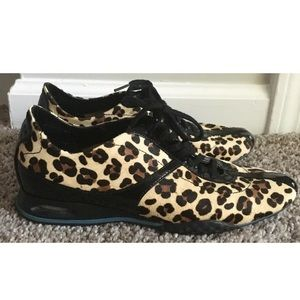 Cole Haan Leopard Sneakers Size Lace Up 7B Nikeair